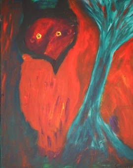 15MM-3747-210-OWL-16in.X20in.-Acrylic-on-Canvas