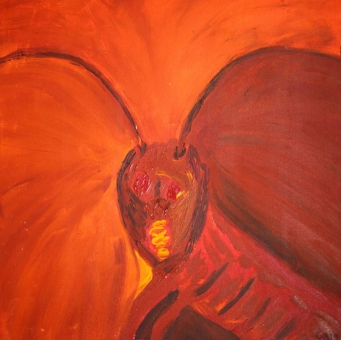 17MM-3691-169-BUG-24in.X24in.-Acrylic-on-Canvas-